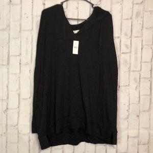 NWT Lou & Grey Hooded Long Sleeve Shirt
